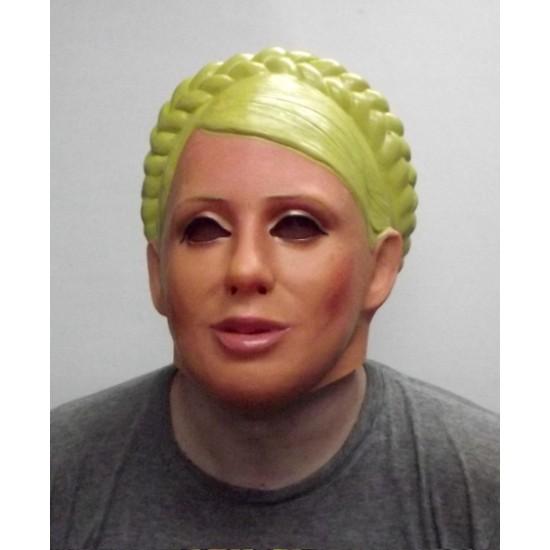 Маски латексные, Маска латексная Женщина с косой,