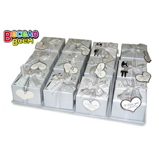 """Бумажные коробки и пакеты, Коробка подарочная """"Свадьба"""",  (12 шт.), 20.90 р. за 1 шт."""