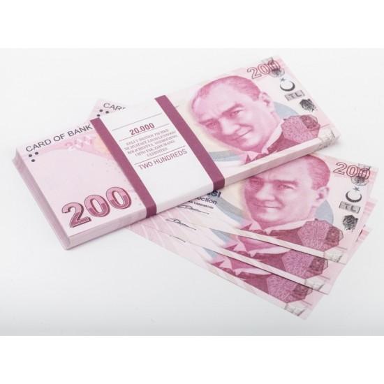 Шуточные деньги, Билеты банка приколов 200 турецких лир