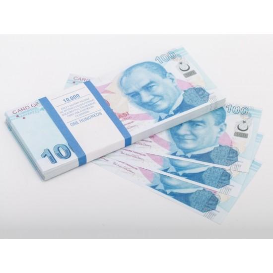 Шуточные деньги, Билеты банка приколов 100 турецких лир