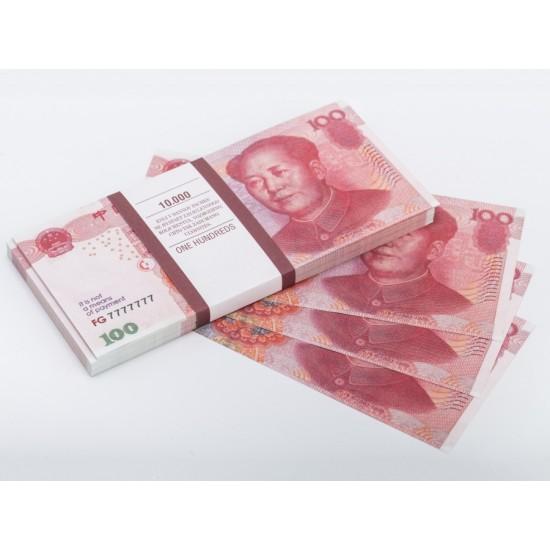 Шуточные деньги, Билеты банка приколов 100 китайских юаней