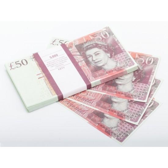 Шуточные деньги, Билеты банка приколов 50 фунтов стерлингов