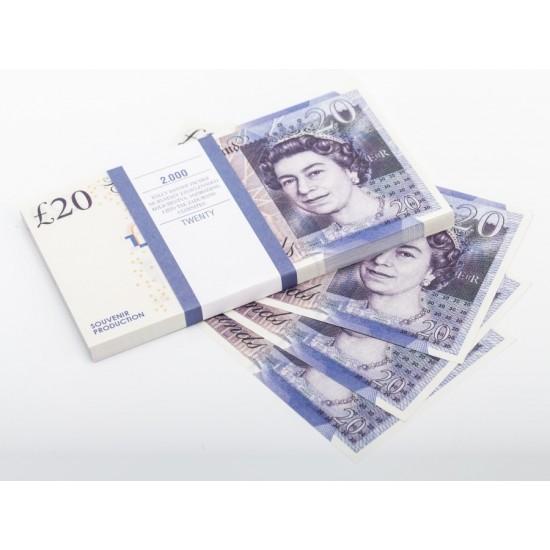 Шуточные деньги, Билеты банка приколов 20 фунтов стерлингов