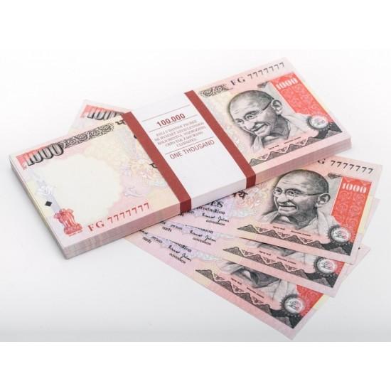 Шуточные деньги, Билеты банка приколов 1000 индийских рупий