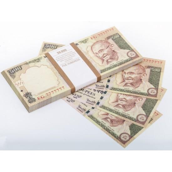 Шуточные деньги, Билеты банка приколов 500 индийских рупий