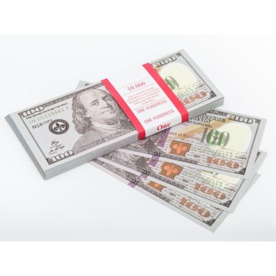 Шуточные деньги, Билеты банка приколов 100 новых долларов