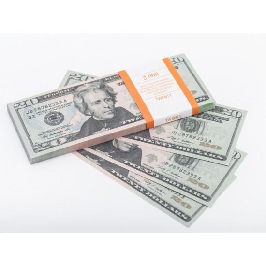 Шуточные деньги, Билеты банка приколов 20 долларов