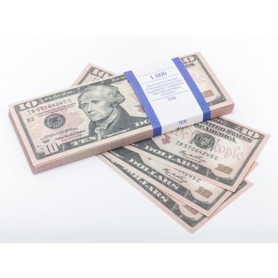 Шуточные деньги, Билеты банка приколов 10 долларов