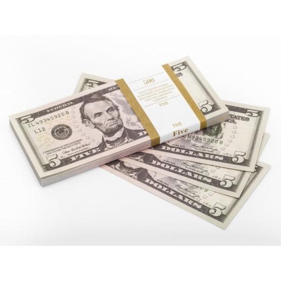 Шуточные деньги, Билеты банка приколов 5 долларов