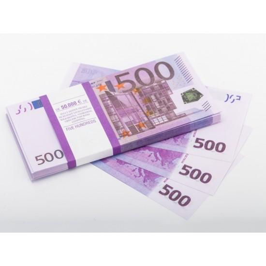 Шуточные деньги, Билеты банка приколов 500 евро