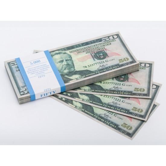 Шуточные деньги, Билеты банка приколов 50 долларов