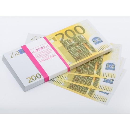 Шуточные деньги, Билеты банка приколов 200 евро