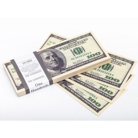 Шуточные деньги, Билеты банка приколов 100 долларов