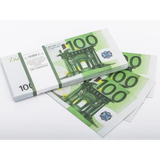 Шуточные деньги, Билеты банка приколов 100 евро